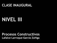 Clase Inaugural Nivel III